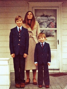 Marilynne Robinson and her sons James and Joseph