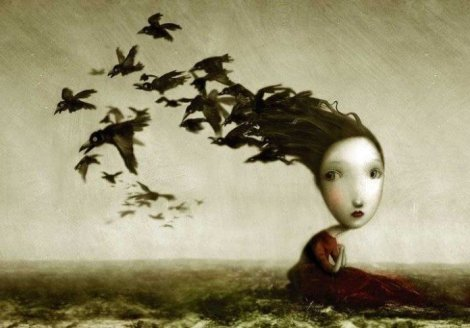 girl-with-birds-hair-surrealist-painting-fantasy-childrens-book-illustration-art-design-696x487